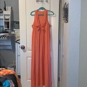 I Crew 100% cotton peach maxi dress